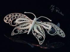 My Precious - Fine silver filigree butterfly