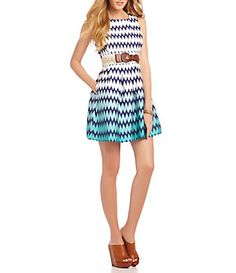 Teeze Me Ombre Chevron Dress | Dillard's Mobile
