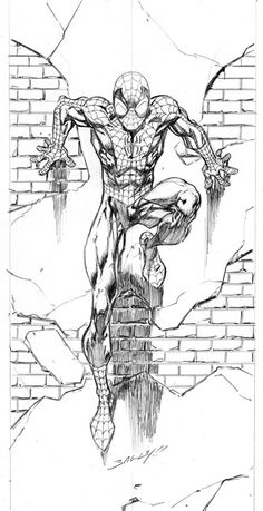 Mark Bagley Spiderman Marvel Comics Love the simple pencil art!
