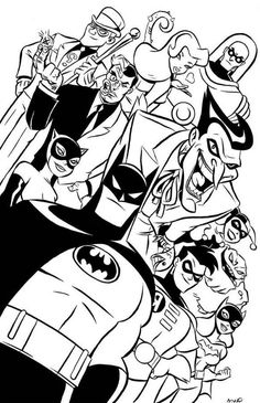 Batman And Robin Coloring Pages from Batman Coloring Pages. Many children, especially boys like and even idolize the character of superheroes. One of their favorite one is Batman. Batman is a superhero fictiona. Batman Coloring Pages, Marvel Coloring, Coloring Pages To Print, Coloring Book Pages, Coloring Pages For Kids, Coloring Sheets, Bruce Timm, Comic Books Art, Comic Art
