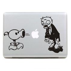 Shooting zombies Macbook Decals Macbook Stickers Mac Decals Macbook Pro Air ipad sticker iphone sticker laptop decal