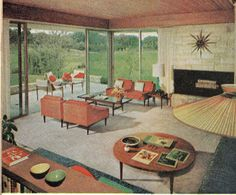 Retro home decor - Super clever retro advice. retro home decor pin idea produced on this day For more charming examples jump to the link to pore over the pin suggestion 5209964198 today 1960s Living Room, Mid Century Living Room, Mid Century Decor, Mid Century House, 1960s Interior Design, Interior Natural, 1960s Home Decor, Decoration, Art Deco