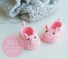 Crochet Pig Booties Free Pattern