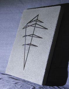 """SHIELD"" from the Sunken Steel Series, 68 x 46 cm - concrete & steel  contact: urbanreduction@gmail.com Steel Art, Concrete, Art Projects, Hair Accessories, Artwork, Work Of Art, Art Designs, Hair Accessory"