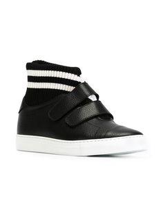 cbb4c600372 Joshua Sanders Ribbed Knit Detail Hi-top Sneakers - Farfetch