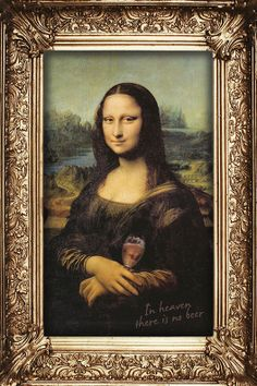 In Heaven there is no beer… Find the real hidden messages in the Mona Lisa.