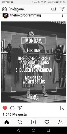 Crossfit Barbell, Crossfit Workouts At Home, Wod Workout, Running Workouts, Fun Workouts, Conditioning Workouts, I Work Out, Box, Fitness Motivation