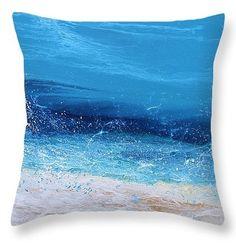 Afternoon Splash 6A Pillow by  Coastal Living Art Acrylic ~  x#beachpillow#beachhousedecor#coastalhomedecor#interiordesign#homefurnishings#artfulinteriors