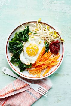 Veggie Bibimbap #healthy #vegetarian #salad