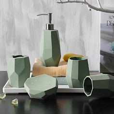 Bathroom Set C Simple Ceramic Sanitary Ware Pcs Wash Kit Army Green