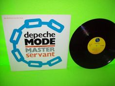 """Depeche Mode – Master And Servant US Black & Blue Vinyl 12"""" EP Record Promo NM #SynthPopNewWave1980sElectronicaDarkwave"""