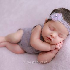 NEW-Newborn Photography Prop-Newborn Dusty Lavender Lace by zoik