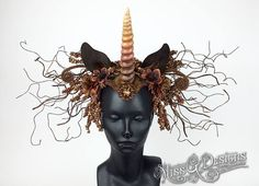 Unicorn Headdress by Miss G Designs   etsy.com/shop/MissGDesignsShop  Headpiece crown
