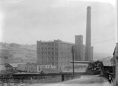 Titanic Mill, Linthwaite, circa 1900-1920s. Source: Kirklees Image Archive Image Archive, Titanic, 1920s, New York Skyline, Memories, History, Travel, Memoirs, Souvenirs