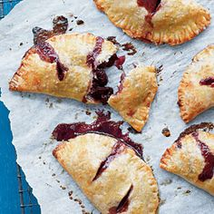 Roasted Cherry Hand Pies | MyRecipes.com tart, light recipes, dessert recipes, roast cherri, food, pie recipes, cherri hand, tomato recipes, hand pies