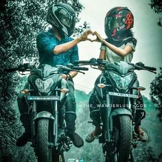 Super bikes for super people Couple Motocross, Motocross Love, Bike Couple, Biker Love, Biker Girl, Pulsar 200, Motorcycle Couple Pictures, Duke Bike, Motos Yamaha