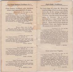 Sweetly Scrapped: Vintage Scans.... Old Fertilizer Book