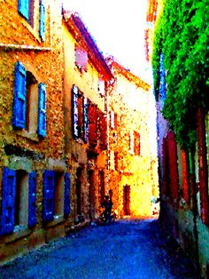 Alley in Saignon, France French Countryside, Provence, France, Painting, Travel, Art, Art Background, Viajes, Painting Art