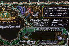 Mandani Halal custom chalk menu by Andrea Casey
