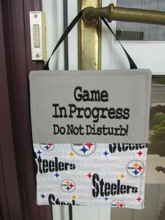 Pittsburg Steelers Door Sign by ThimbleFairies on Etsy, $24.50