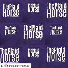 Love the purple!! Who else is excited to find out what fun saying will be on the front!!? #Repost @theplaidhorsemag .  The new TPH Kid's tee is purple! Comment what you think it says on the front