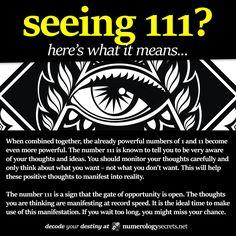 Numerology secrets of angel number 111...