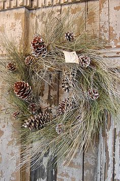 rustic wreath.....