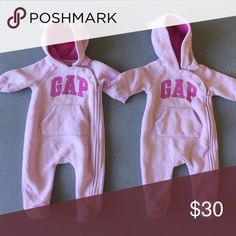 GAP Sweatsuit Onesie Lavender GAP hooded baby zip up sweatsuit *all items sold individually* GAP One Pieces Footies