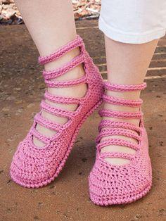New Crochet Patterns - ANNIE'S SIGNATURE DESIGNS: Summer Slippers Crochet Pattern