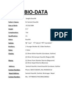 Best Of Marriage Resume Format For Boy Free Muslim