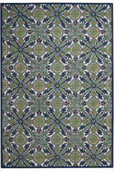 "Tile Area Rug #2077410310 Size: 3'6""x5'6"" Color: Blue  $149.00"