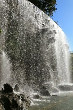 # Waterfall at La Colline du Chateau Nice France