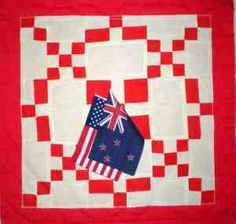 Burgoyne Surrounded quilt with flags