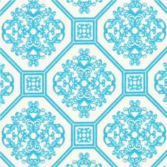 Robert Kaufman ornament knit fabric turquoise 8