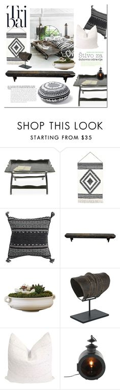 """Simple Tribal"" by gangdise on Polyvore featuring interior, interiors, interior design, home, home decor, interior decorating, Dot & Bo, Donna Wilson and tribaldecor"