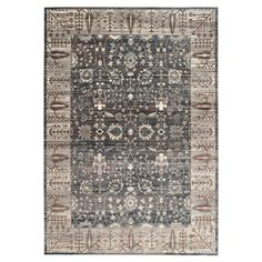 Stylishly anchor your living room seating group or define space in the den with this artfully crafted rug, showcasing a Persian-inspired motif and grey hue. ...