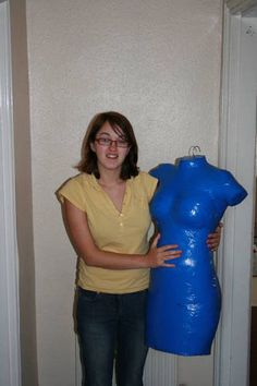 DIY Dress Form - Blue Duct Tape - I like the blue the form came out perfect! Im off to start taping!! Kisses Crunchy!!