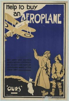 Help To Buy An Aeroplane Vintage Poster