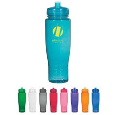 Promotional Hitgreen (tm) - Plastic Bottle With Leak Resistant Push Pull Lid, 28 Oz - Customized by USimprints 1.73 for 100 ?