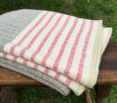 Hand Woven Merino Wool Blanket by NordtFamilyFarm on Etsy Wool Baby Blanket, Merino Wool Blanket, Picnic Blanket, Outdoor Blanket, Baby Blankets, Brown Throws, Pink And White Stripes, Weaving Projects, Turkish Towels
