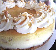 White Chocolate Macadamia Nut Cheesecake
