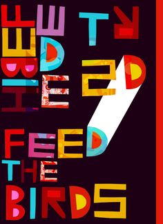 """Feed the Birds"" - {Simon Wild illustration}"