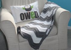 Grey Chevron Baby Blanket Registry for Courtney by clelliedivine, $38.00. actually love th pillow in this pic. my son's name and color of his room and with my obession of owls its perfect. gotta get it