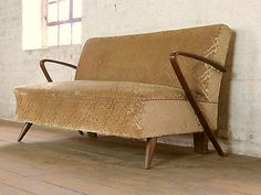 midcentury club sofa daybed chaisebed couch vintage - Daybed Couch