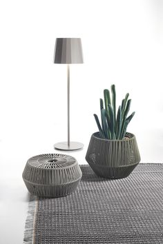 KETTAL OBJECTS  Outdoor lamp  ZigZag puff  Outdoor Indoor Rugs - #Kettal