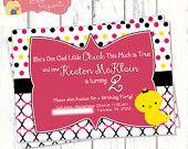 Cool Chick Custom Girl's Birthday Party Invitation - DIY Printable File