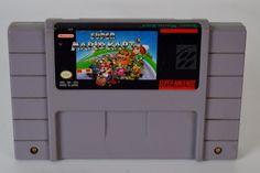 Super Nintendo Super Mario Kart SNES Video Game Tested Works