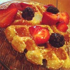 Liege Belgian Waffles with Pearl Sugar - Allrecipes.com