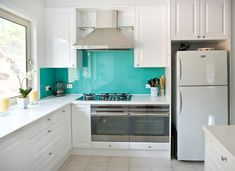 attractive nice adorable cute fantastic acrylic backsplash  with turquoise color design with large concept for modern kitchen