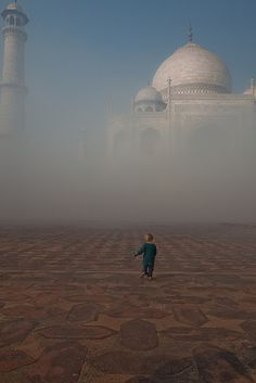 Ahhhh... they did it.  A unique photo of the Taj!